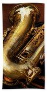 Music - Brass - Saxophone  Bath Towel