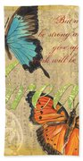Musical Butterflies 1 Bath Towel