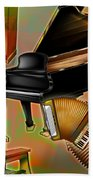 Musical Instruments With Keyboards Bath Towel