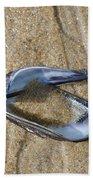 Mussel Shell On The Beach Bath Towel