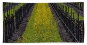 Mustard Grass In Vineyards Hand Towel