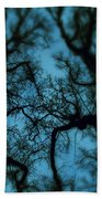 My Blue Dark Forest Bath Towel