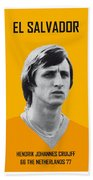 My Cruijff Soccer Legend Poster Bath Towel