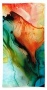 My Cup Runneth Over - Abstract Art By Sharon Cummings Bath Towel