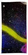 My Galaxy In Blue Cross Process Bath Towel