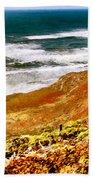 My Impression Of California Coastline Bath Towel