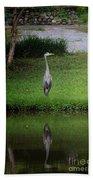 My Reflection - Heron Bath Towel