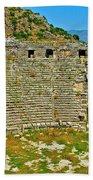 Myra's Roman Theatre In Fourth Century-turkey Bath Towel