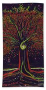Mystic Spiral Tree Red By Jrr Bath Towel