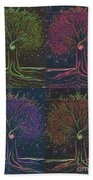 Mystic Spiral Tree X 4 By Jrr Hand Towel