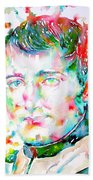 Napoleon Bonaparte - Watercolor Portrait Bath Towel