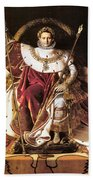 Napoleon I On His Imperial Throne Bath Towel