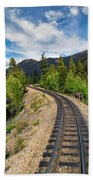 Narrow Gauge Tracks In Silver Country Bath Towel