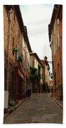 Narrow Street In Provence Bath Towel