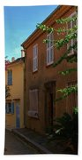 Narrow Street In The Village Bath Towel