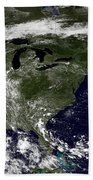 Nasa Satellite Map Of Heat Wave Over The United States Bath Towel