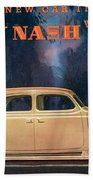 Nash 400 - Vintage Car Poster Bath Towel