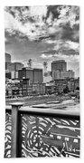 Nashville From The Shelby Bridge Bath Towel