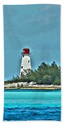 Nassau Bahama Lighthouse Bath Towel