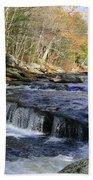 Natchaug River Falls Bath Towel