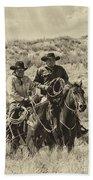 Native American Cowboys Bath Towel