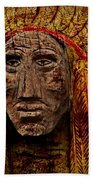 Native American In Wood 1886 Bath Towel