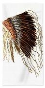Native American War Bonnet - Plains Indians Bath Towel