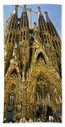 Nativity Facade - Sagrada Familia Bath Towel
