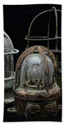 Natuical - Vintage Ship Deck Lights Bath Towel