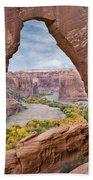 Natural Arch And River Valley Canyon De Bath Towel