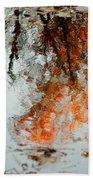 Natural Paint Daubs Bath Towel
