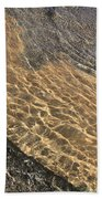 Nature Abstract - Clear Lake Tahoe Water  Bath Towel