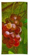 Nature Goodness Grapes On The Vine Bath Towel