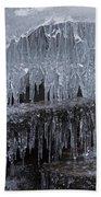Natures Frozen Cathedral Sculpture Bath Towel