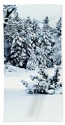 Natures Handywork - Snow Storm - Snow - Trees 2 Bath Towel