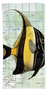 Nautical Journey-h Bath Towel by Jean Plout