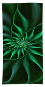 Nautilus Fractalus Verdant Green Bath Towel