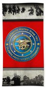 Naval Special Warfare Group Two - N S W G-2 - Over Navy S E A Ls Collage Bath Towel