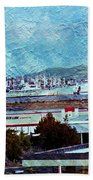 Navy Ships As A Painting Bath Towel