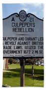 Nc-a21 Culpepers Rebellion Bath Towel