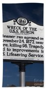 Nc-b31 Wreck Of The U.s.s. Huron Bath Towel