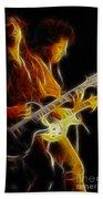 Neal Schon-gc5a-fractal Bath Towel