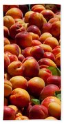 Nectarines For Sale At Weekly Market Bath Towel