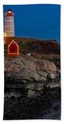Neddick Lighthouse Bath Towel