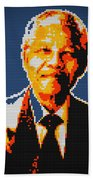Nelson Mandela Lego Pop Art Bath Towel