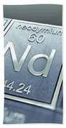 Neodymium Chemical Element Bath Towel