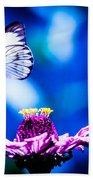 Neon Butterfly Bath Towel