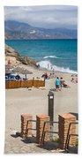 Nerja Beach In Spain Bath Towel