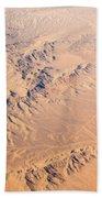 Nevada Mountains Aerial View Bath Towel