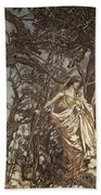 Never So Weary Never So Woeful Illustration To A Midsummer Night S Dream Bath Towel